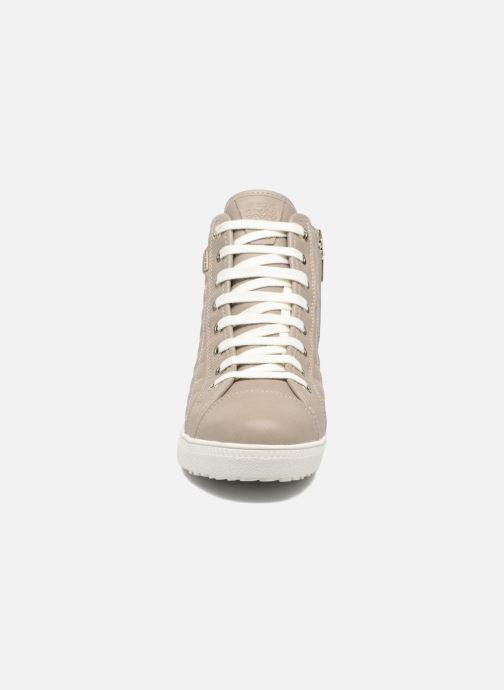 Sneakers Geox D AMARANTH HIGH B AB II Beige modello indossato