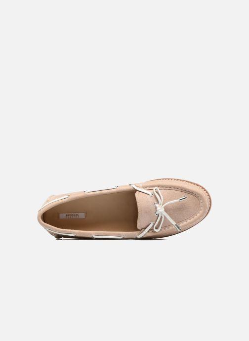 Chaussures à lacets Geox D BLENDA D Rose vue gauche