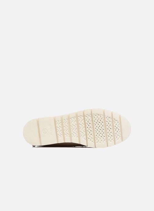 Chaussures à lacets Geox D BLENDA D Rose vue haut