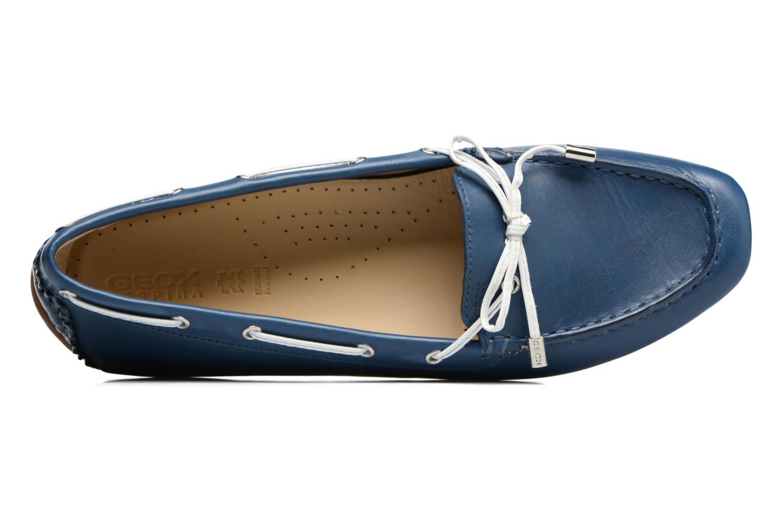 Scarpe con lacci Geox D CLELIA A Azzurro immagine sinistra