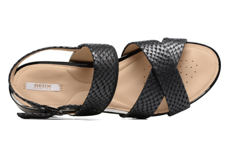Sandalen Geox D FORMOSA B II Zwart links