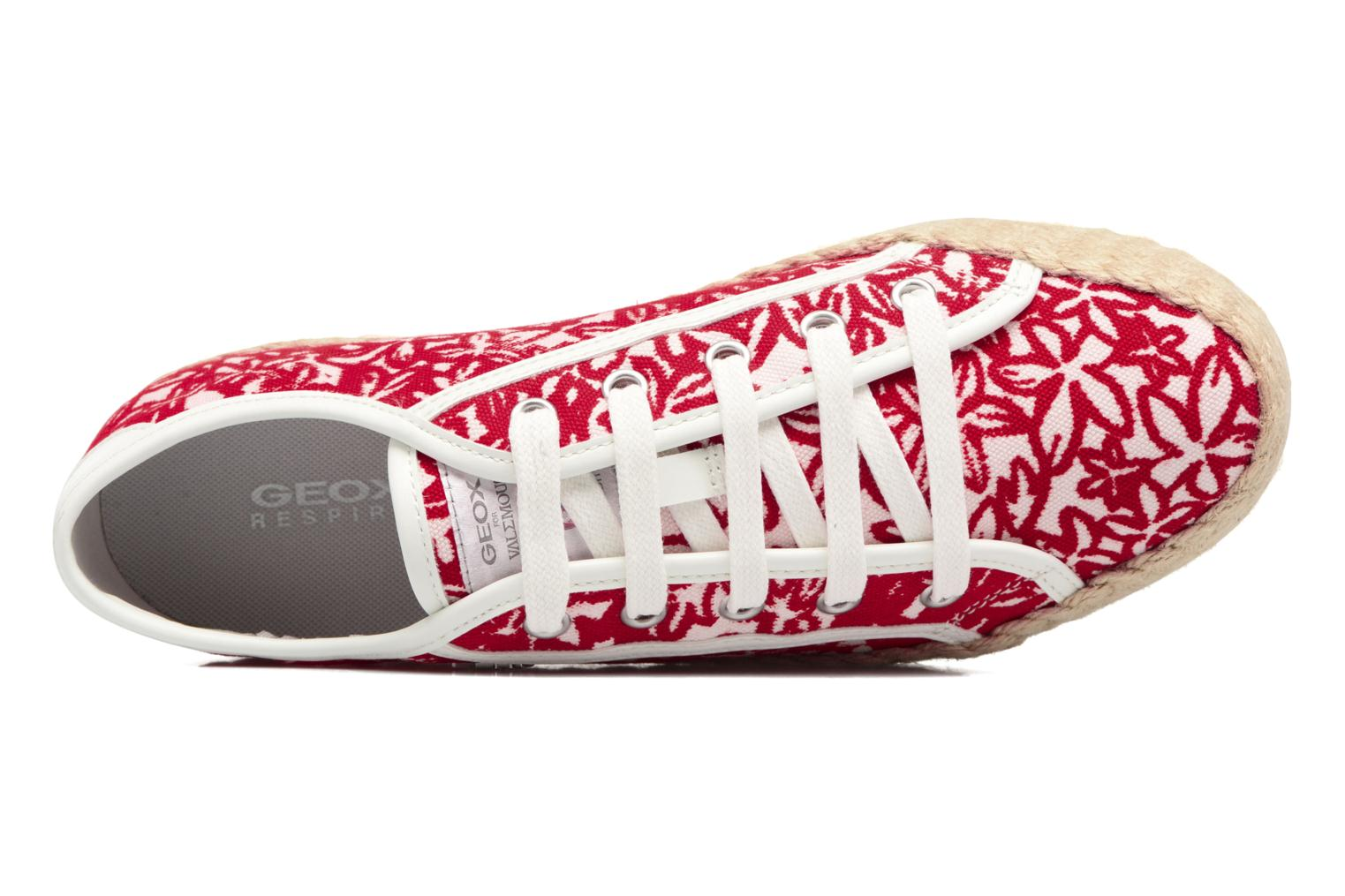 Espadrilles Geox D HIDENCE V A Red view from the left