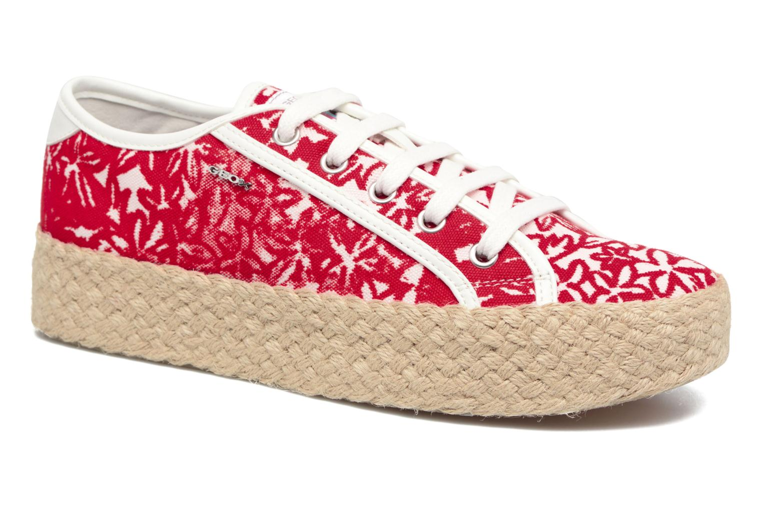 Espadrilles Geox D HIDENCE V A Red detailed view/ Pair view