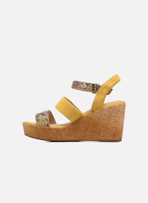 Sandales et nu-pieds Geox D JALEAH B Jaune vue face