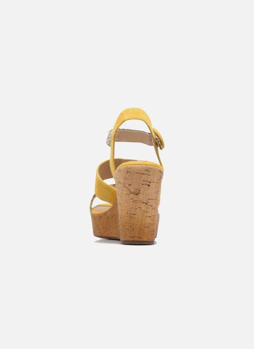 Sandalias Geox D JALEAH B Amarillo vista lateral derecha