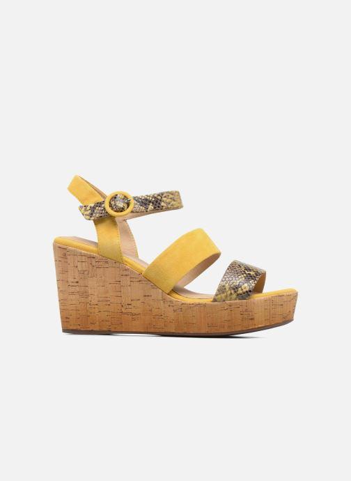 Sandales et nu-pieds Geox D JALEAH B Jaune vue derrière