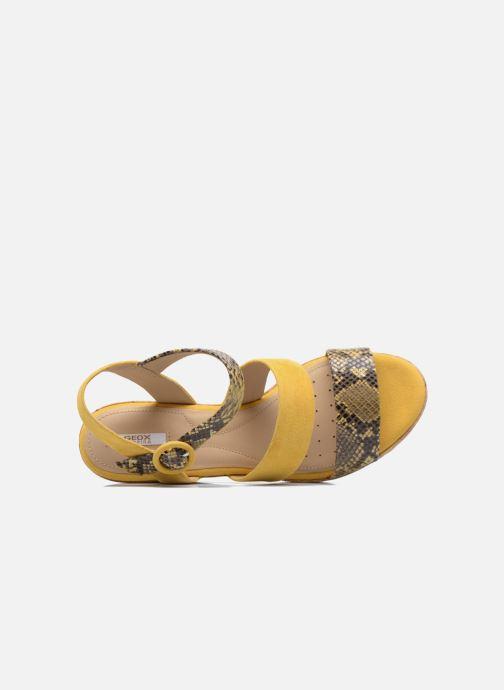 Sandales et nu-pieds Geox D JALEAH B Jaune vue gauche
