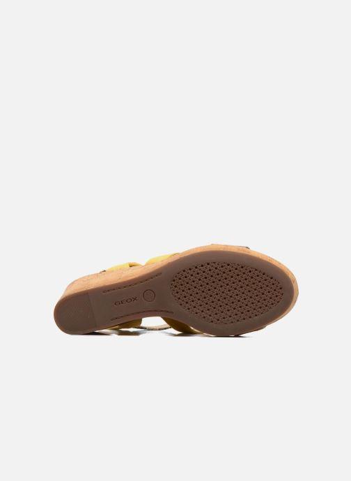 Sandales et nu-pieds Geox D JALEAH B Jaune vue haut