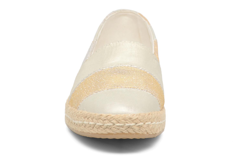 Espadrilles Geox D MODESTY B Or et bronze vue portées chaussures