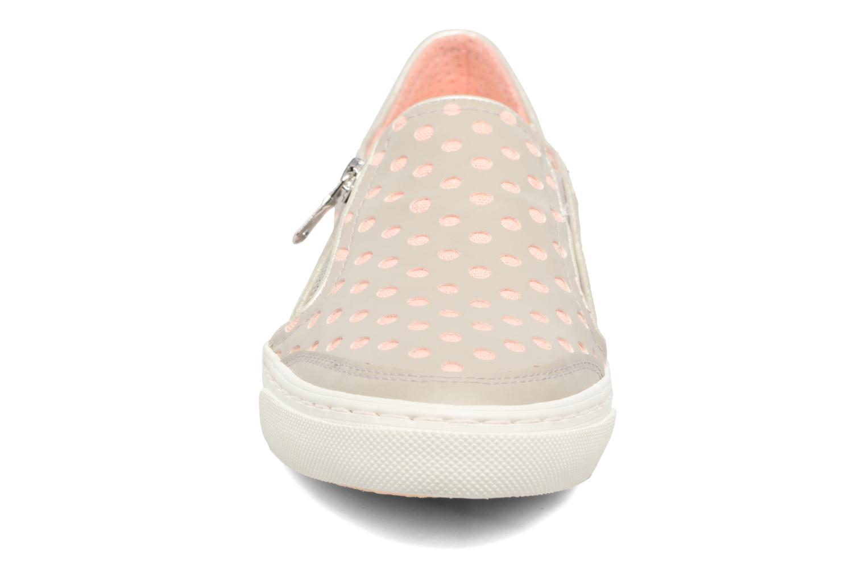 Sneaker Geox D NEW CLUB A II grau schuhe getragen