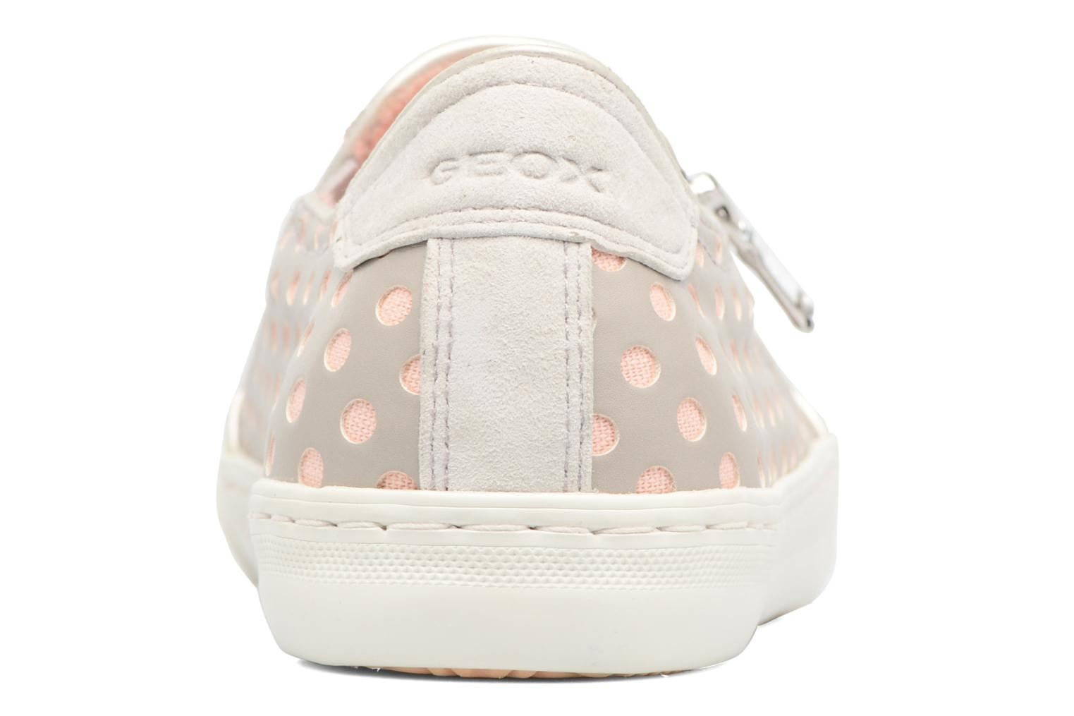 Baskets Geox D NEW CLUB A II Gris vue droite