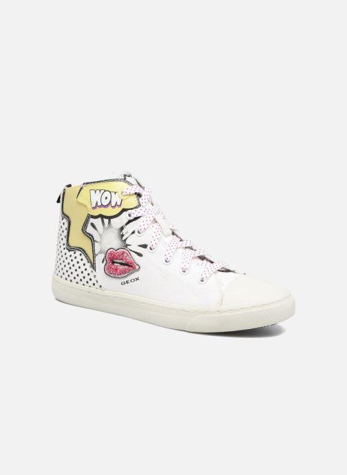Sneakers Geox D NEW CLUB B II Wit detail