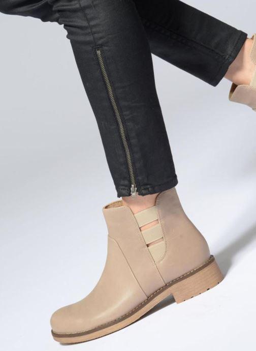 Bottines et boots Geox D NEW VIRNA D Beige vue bas / vue portée sac