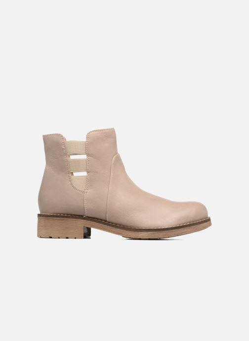 Boots en enkellaarsjes Geox D NEW VIRNA D Beige achterkant