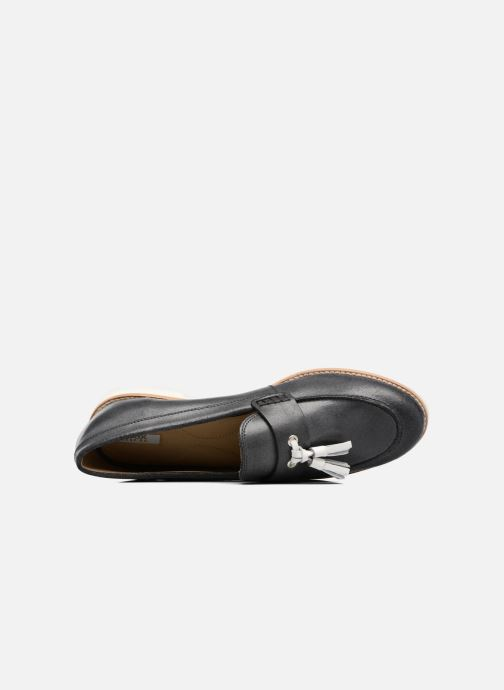 Mocassins Geox D PROMETHEA C Zwart links