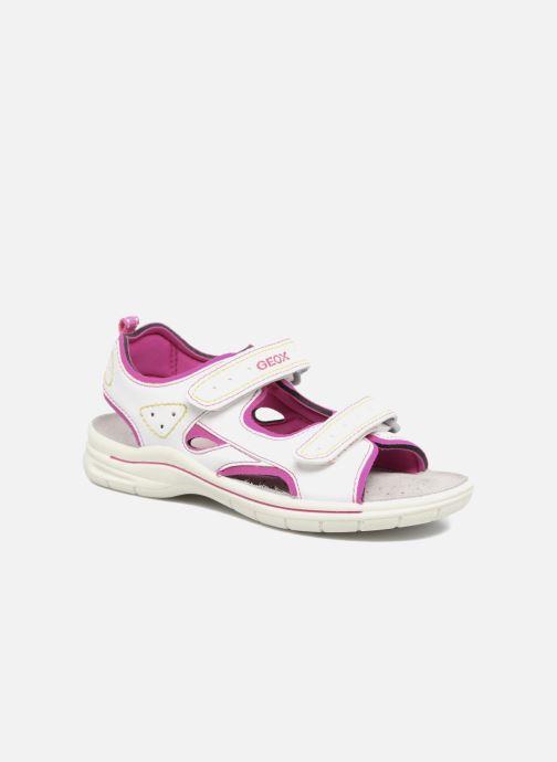 Sandales et nu-pieds Geox J DELBYN GIRL B Blanc vue détail/paire