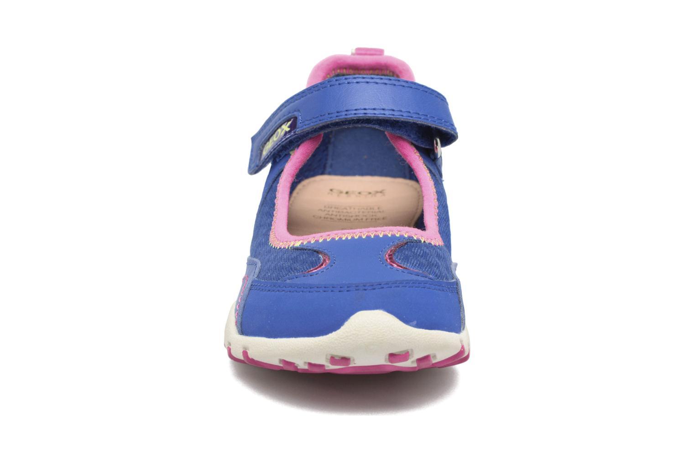 Ballerine Geox JR FRECCIA B Azzurro modello indossato