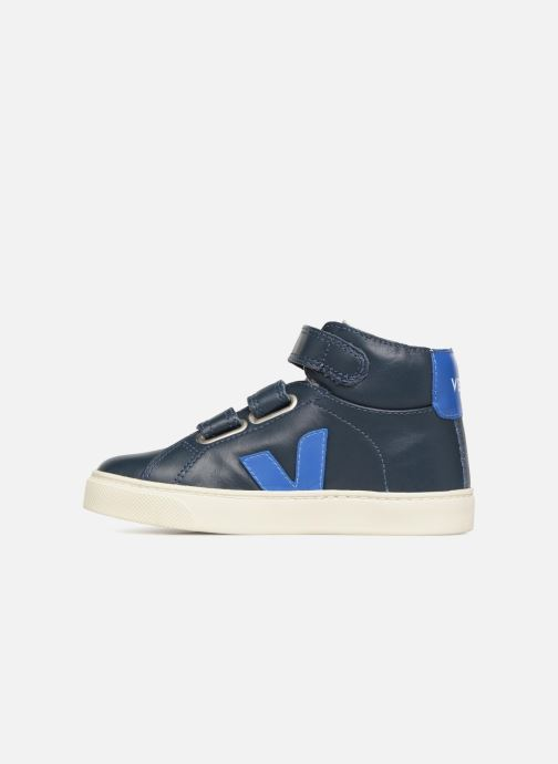 Trainers Veja Esplar Mid Small Velcro Fured Blue front view