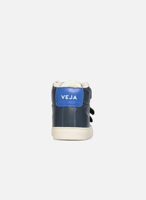 Trainers Veja Esplar Mid Small Velcro Fured Blue view from the right