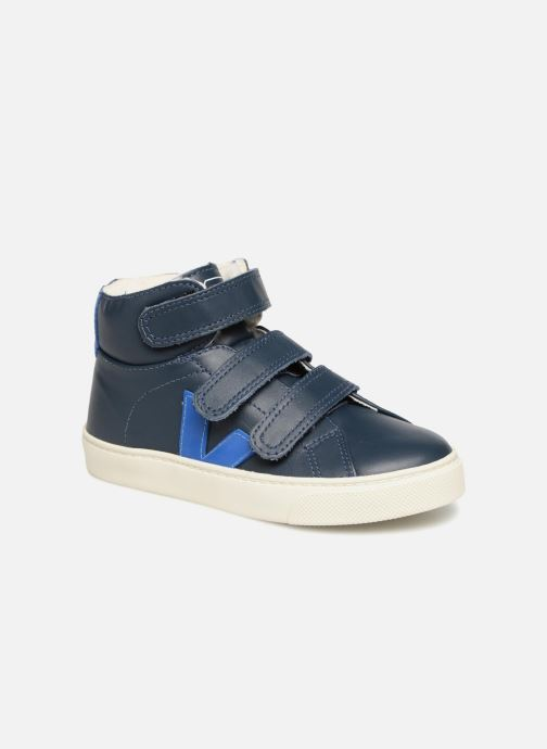 Trainers Veja Esplar Mid Small Velcro Fured Blue detailed view/ Pair view