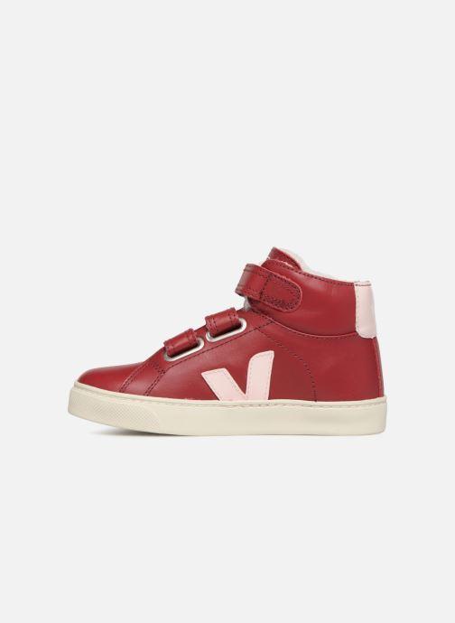 Sneaker Veja Esplar Mid Small Velcro Fured rot ansicht von vorne