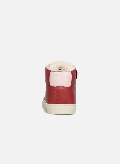 Trainers Veja Esplar Mid Small Velcro Fured Red view from the right