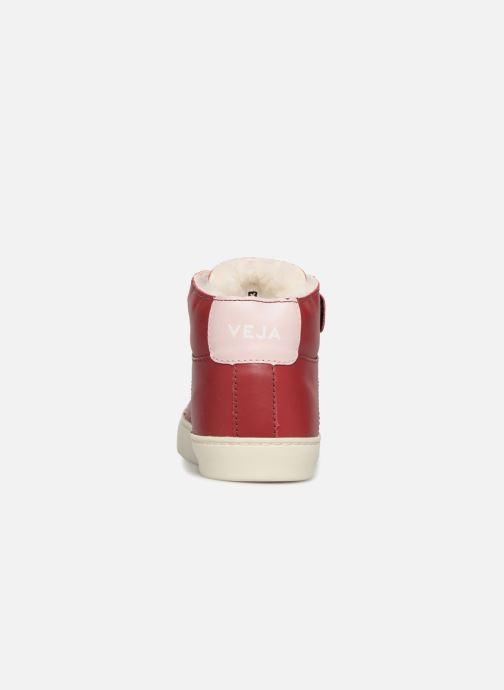 Sneaker Veja Esplar Mid Small Velcro Fured rot ansicht von rechts