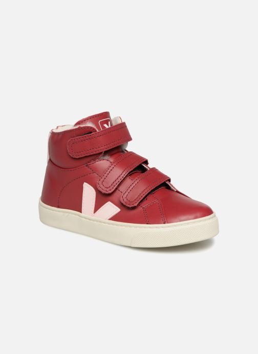 Trainers Veja Esplar Mid Small Velcro Fured Red detailed view/ Pair view