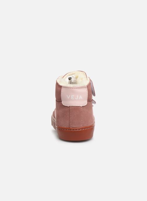 Baskets Veja Esplar Mid Small Velcro Fured Violet vue droite