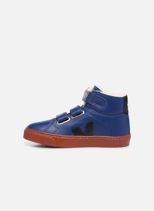Sneakers Veja Esplar Mid Small Velcro Fured Blå se forfra
