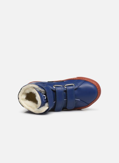 Baskets Veja Esplar Mid Small Velcro Fured Bleu vue gauche