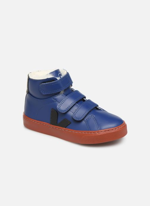 Baskets Veja Esplar Mid Small Velcro Fured Bleu vue détail/paire