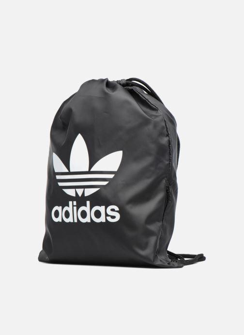 Sporttaschen adidas originals Gymsack Trefoil schwarz schuhe getragen