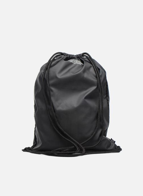 Bolsas de deporte adidas originals Gymsack Trefoil Negro vista de frente
