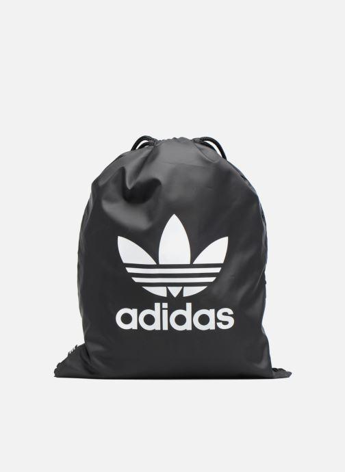 Bolsas de deporte adidas originals Gymsack Trefoil Negro vista de detalle / par
