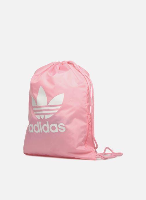 Sports bags Adidas Originals Gymsack Trefoil Pink model view