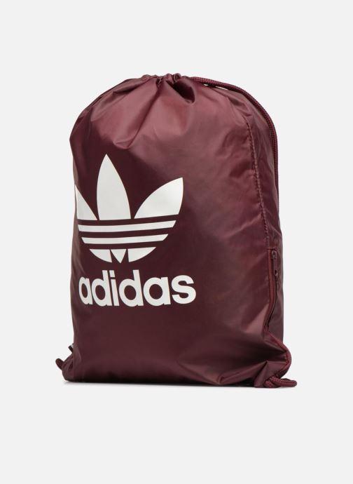 Sporttaschen adidas originals Gymsack Trefoil weinrot schuhe getragen