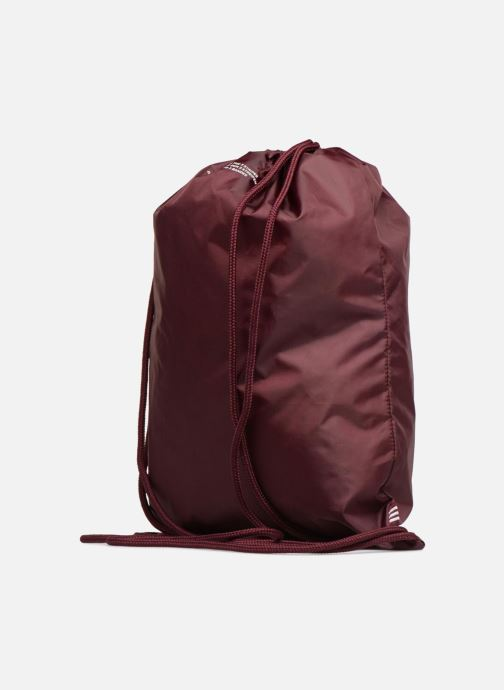 Sports bags adidas originals Gymsack Trefoil Burgundy view from the right