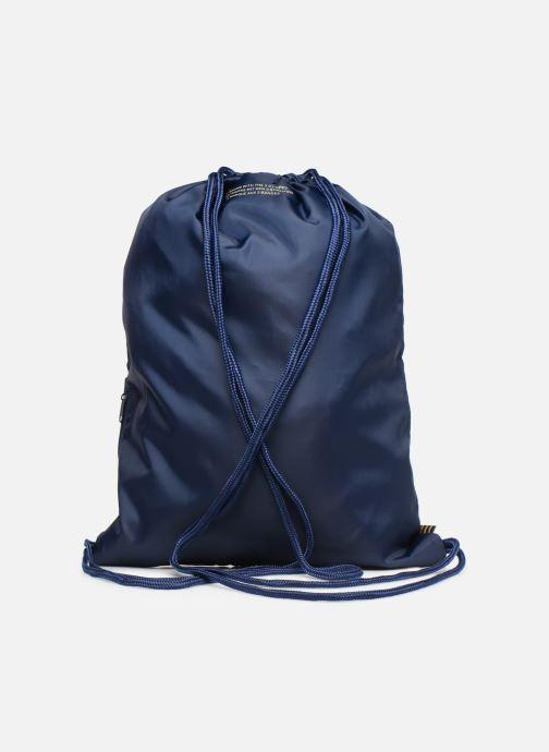 Sacs de sport adidas originals Gymsack Trefoil Bleu vue face