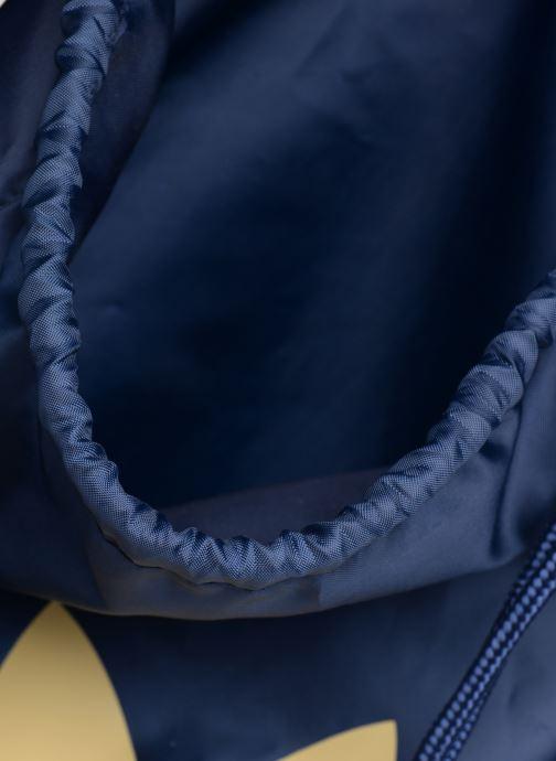 Bolsas de deporte adidas originals Gymsack Trefoil Azul vistra trasera