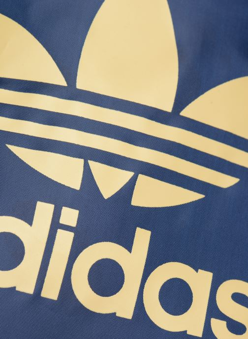 Sports bags adidas originals Gymsack Trefoil Blue view from the left