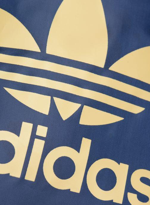 Sporttaschen adidas originals Gymsack Trefoil blau ansicht von links