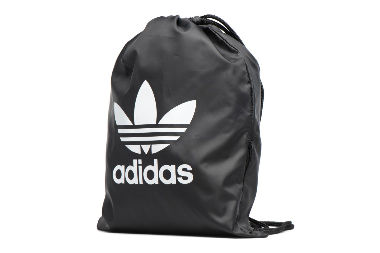Borsa da palestra Adidas Originals Gymsack Trefoil Nero modello indossato