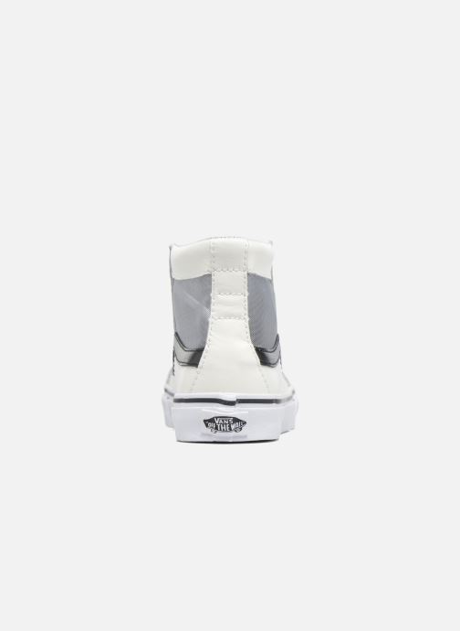 Trainers Vans SK8-Hi Slim Cutou White view from the right