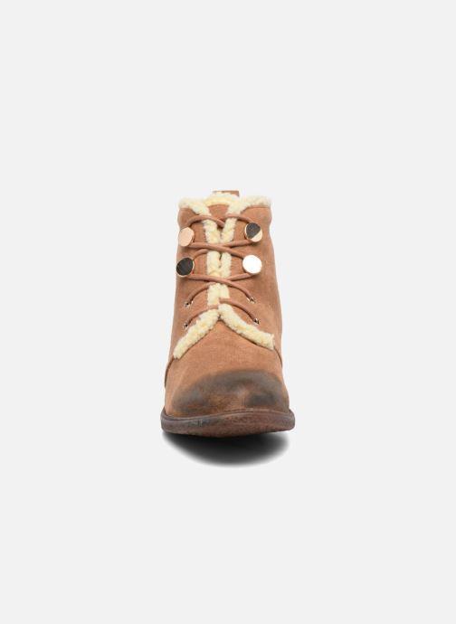 Bottines et boots Divine Factory Hotilie Marron vue portées chaussures