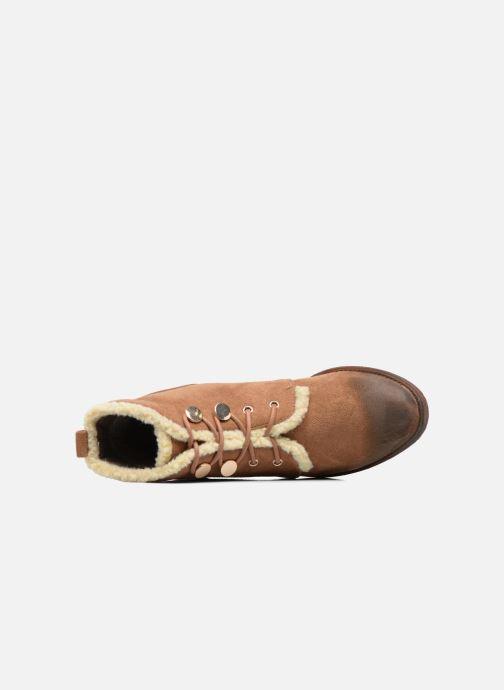 Bottines et boots Divine Factory Hotilie Marron vue gauche
