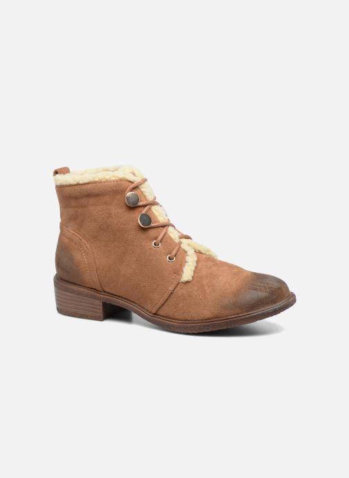 Bottines et boots Divine Factory Hotilie Marron vue détail/paire