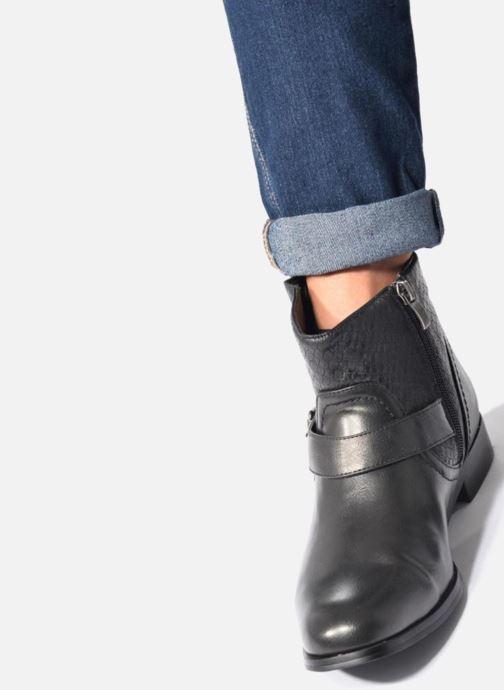 Bottines et boots Divine Factory Geina Noir vue bas / vue portée sac