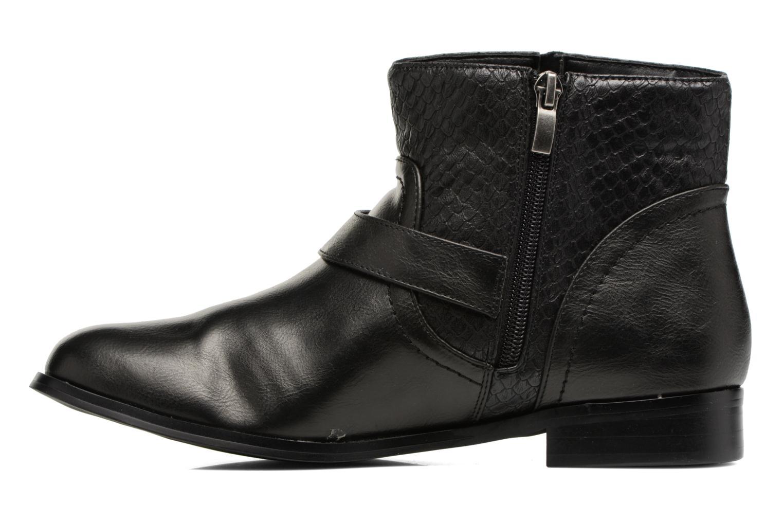 Bottines et boots Divine Factory Geina Noir vue face
