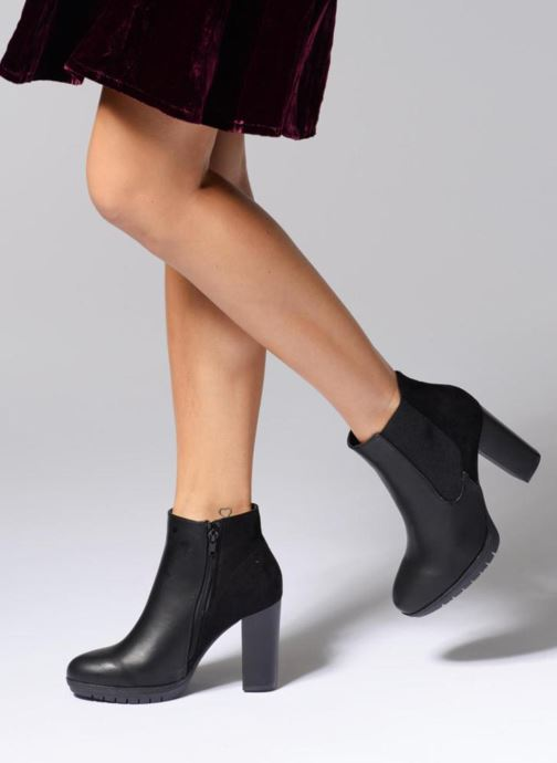 Ankle boots Divine Factory Soon Black view from underneath / model view